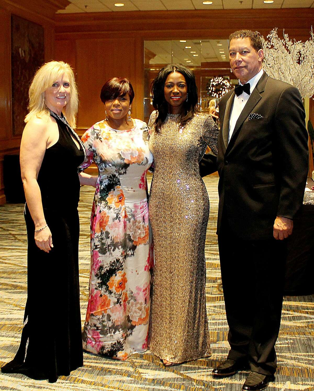 Martha Daley, from left, Diann Maxey, Dr. Kathy Flanagan and Dennis Pettis