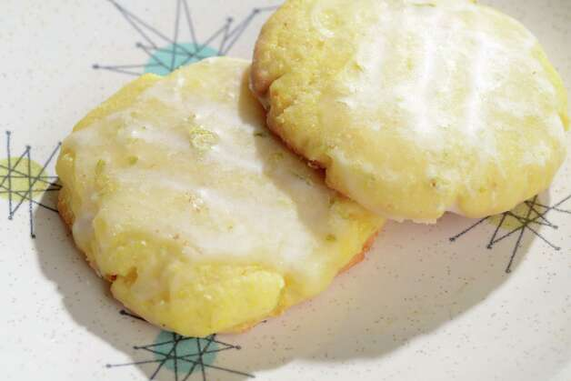 Lime Cornmeal Glazed Cookies from Martha Stewart Living were a cookie guide favorite. (Will Waldron/Times Union) Photo: WW / 00029755A