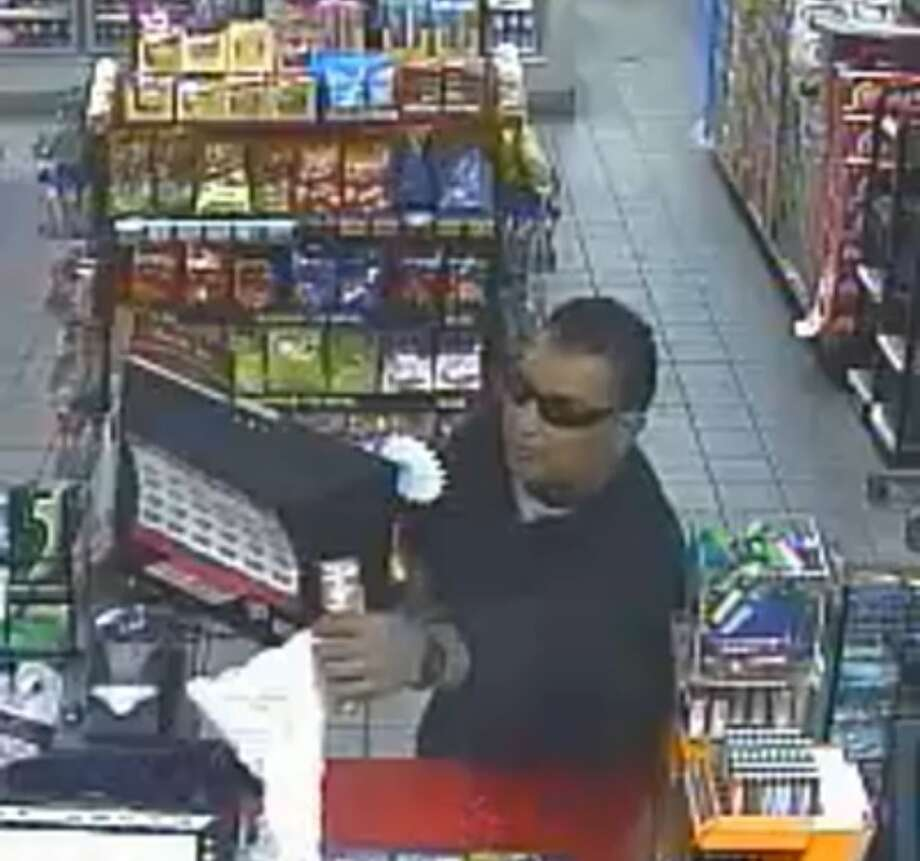 San Antonio police are searching for a man who robbed a Northwest Side Shell station in November. Photo: Courtesy, SAPD
