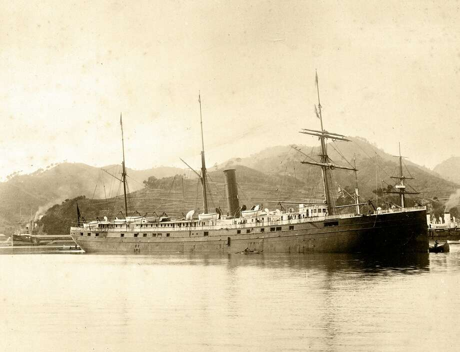 SS City of Rio de Janeiro built by John Roach & Son in 1878 at Chester, Penn. regularly transported passengers and cargo between Asia and San Francisco, photo taken at Nagasaki, Japan, 1894. Photo: Hand Out, Courtesy San Francisco Maritime