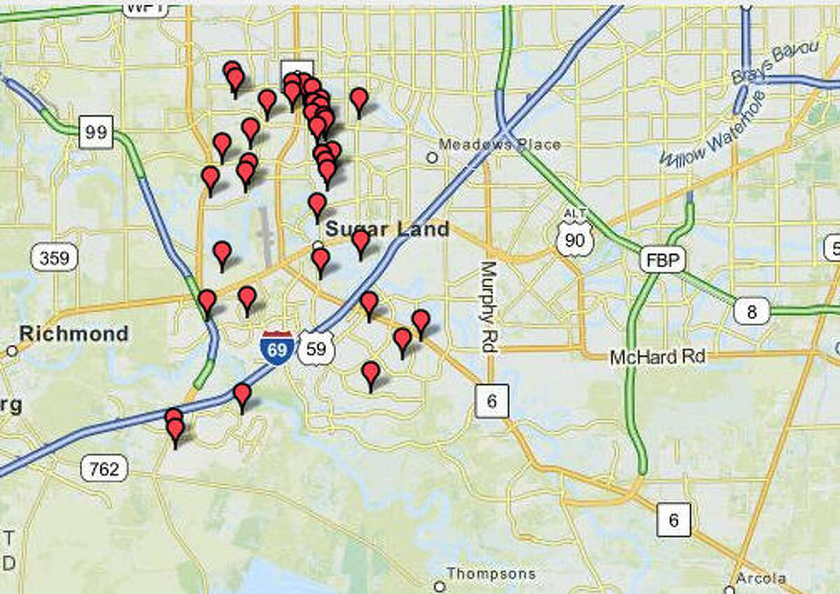 Sugar Land Number of sex offenders: 43 Ratio of residents to sex offenders: 1,918 to 1 Source:City-Data.com
