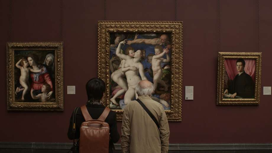 "Visitors to London's National Gallery study a Bronzino painting in a still from Frederick Wiseman's documentary ""National Gallery."" Photo: Zipporah Films / Zipporah Films / ONLINE_YES"