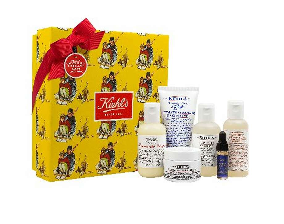 """Kiehl's fourth Annual Limited Edition Creme de Corps Holiday Collection Holiday Set: This year's limited-edition collection features images of Norman Rockwell's """"Young Love: Sledding."""" Up to $100,000 of the profits will be donated to Feeding America to provide meals to families this season. This year, Kiehl's has a gift set as part of the collection, including Creme de Corps, Amino Acid Shampoo, Ultimate Strength Hand Salve, Ultra Facial Cream, Grapefruit Hand & Body Wash and a deluxe sample of Midnight Recovery, $45 at department stores and Kiehls.com.  Pampering you can feel good about. Photo: Courtesy Photo"""