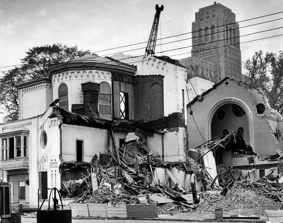 St. Paul's Episcopal Church is demolished to make way the South Mall Oct. 19, 1964, in Albany, N.Y. (Times Union archive)