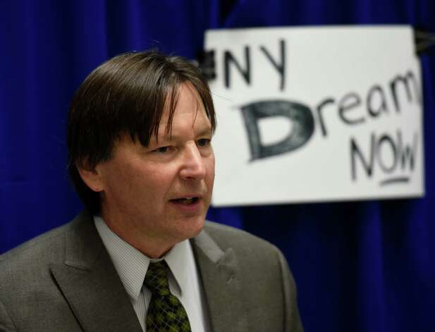 Fred Kowal, president of the United University Professions speaks during a press conference in the well of the Legislative Office Building Dec. 10, 2014 in Albany, N.Y. (Skip Dickstein/Times Union) Photo: SKIP DICKSTEIN / 00029801A