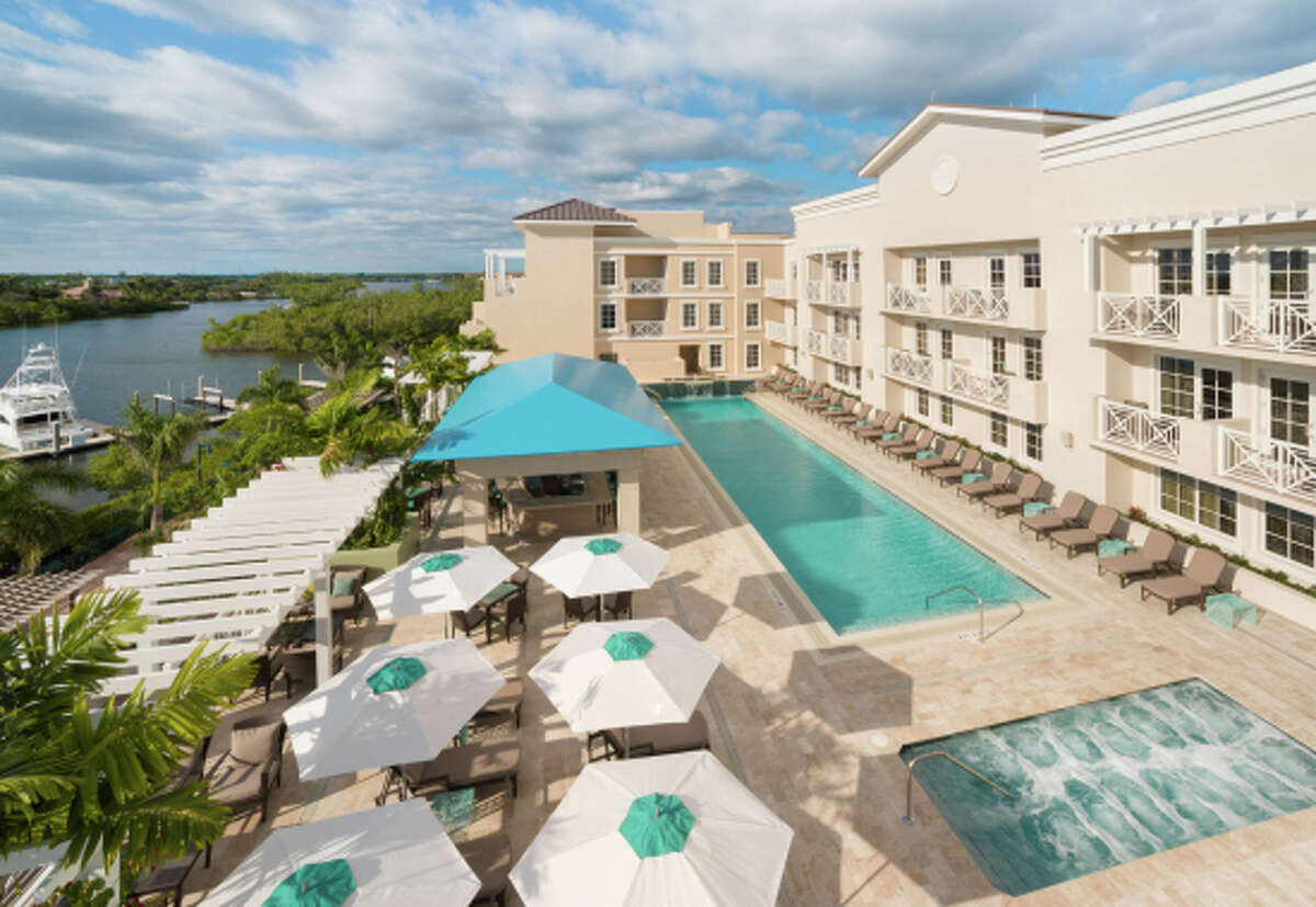 The new Harbourside Place complex on the Intracoastal Waterway in Jupiter, Fla., offers shops, restaurants, live entertainment and the 179-room Wyndham Grand Jupiter hotel.