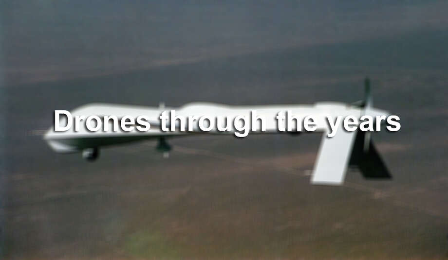 """Two of the U.S. Army's most-used unmanned aerial vehicles, or """"drones,"""" will soon have their own exclusive airport near the Texas-Mexico border.  Scroll through to see how drones — and the debate surrounding their use — have evolved through the years. Photo: Getty Images, General Atomics/Getty Images / Getty Images"""