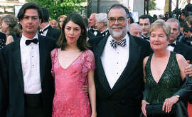 Four of the Coppola clan: From left, Roman Coppola, Sofia Coppola, Francis Coppola and Eleanor Coppola in 2001.