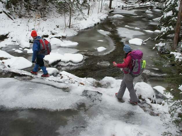 Photo by Herb Terns. Crossing Santanoni Brook on the way to Henderson Mountain in the Adirondacks. Photo: Picasa