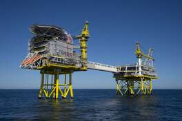 No. 47: ConocoPhillips Previous Rank: 45 Headquarters: Houston, Texas [Photo: A platform works on ConocoPhillips' Jasmine Field project in the North Sea.]