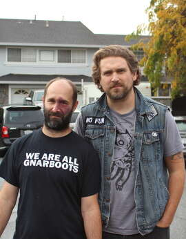 "Gnarboots' Aaron Carnes (left) and Adam Davis formed the band after getting burned out on music, opting to ""try something different."""