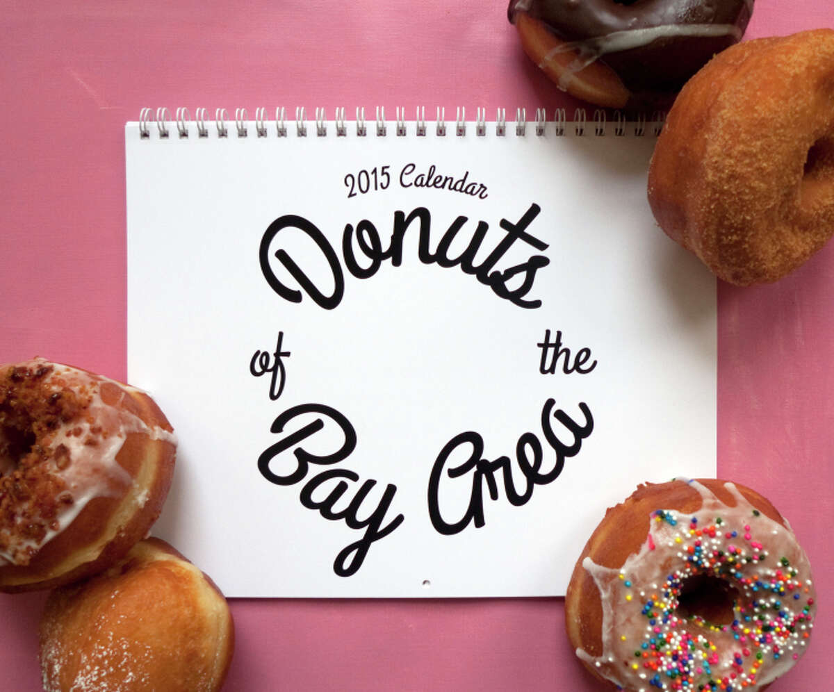 2015 Donuts of the Bay Area calendar by San Francisco illustrator April Waters.