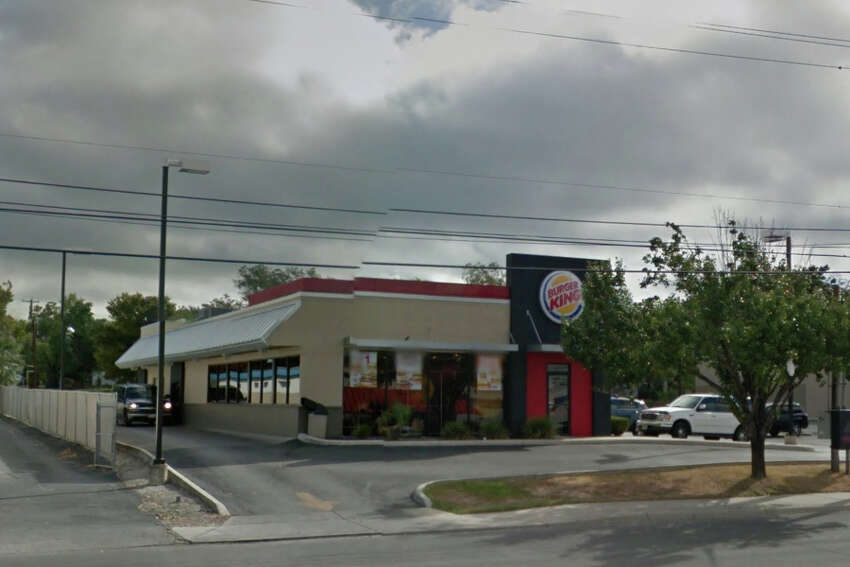 Burger King #9721: 3400 Fredericksburg Road, San Antonio, Texas 78201Date: 05/02/2017 Score: 85Highlights: Food not protected from cross contamination (cheese within walk-in cooler not properly covered), food contact surfaces not clean to sight and touch, toxic chemicals stored next to containers of salad.