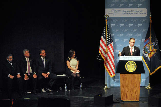 Gov. Andrew Cuomo speaks during the  Regional Economic Development Council Awards at the Egg on Thursday Dec. 11, 2014 in Albany, N.Y.  (Michael P. Farrell/Times Union) Photo: Michael P. Farrell, Albany Times Union / 00029800A
