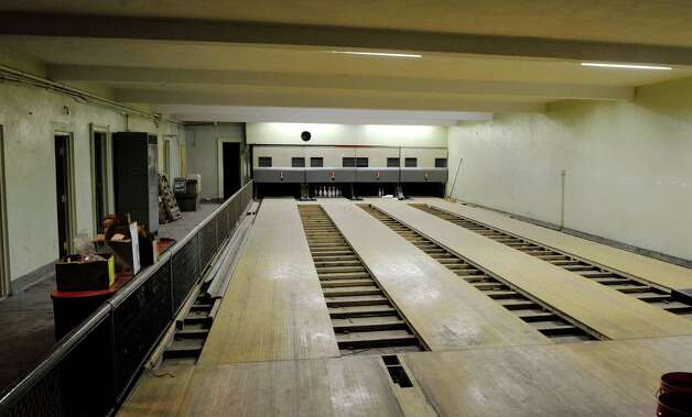 A view of the 1920's bowling alley at the Takk House on Tuesday, Dec. 9, 2014, in Troy, N.Y.  (Paul Buckowski / Times Union) Photo: Paul Buckowski / 00029736A