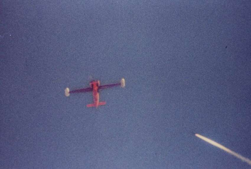 While today's drones launch missiles at suspected militants, early versions were more often targets in missile tests. Here, a redeye missile closes in on a radio-controlled drone in 1966.