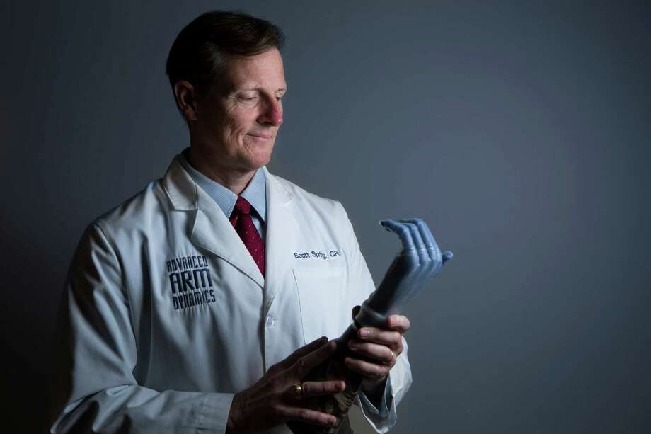 Scott Spring, a prosthetist at Advanced Arm Dynamics, specializes in upper limbs. The company recently opened an office in Houston. Photo: Marie D. De Jesus, Staff / © 2014 Houston Chronicle