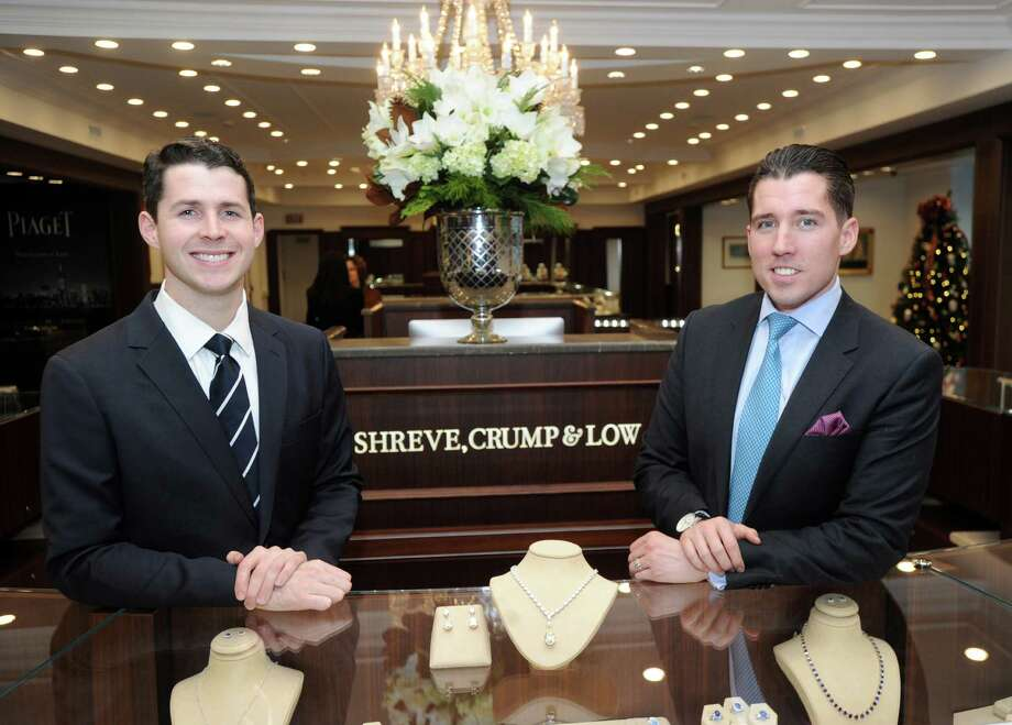 Vice President and Creative Director of Shreve, Crump & Low, Brian Walker, left, and Adam Bossi, president of Shreve, Crump & Low, in the store located at 125 Greenwich Ave., Greenwich, Conn., Thursday, Dec. 11, 2014. The fine jewelry, watches and gift store that was founded in Boston in 1796 and recently open a new store in Greenwich. Photo: Bob Luckey / Greenwich Time