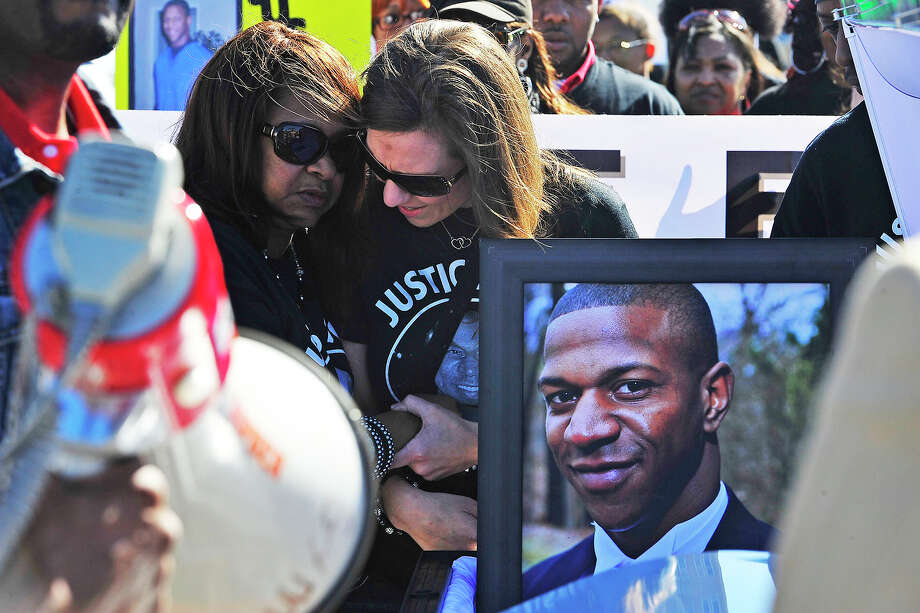 A rally in downtown Beaumont last January drew more than 50 participants demanding justice for Alfred Wright, 28, who had been found dead two months earlier in Sabine County.