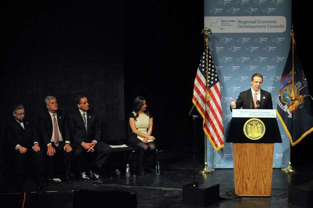 Gov. Andrew Cuomo speaks during the Regional Economic Development Council Awards Thursday, Dec. 11, 2014, at the Egg in Albany, N.Y.  (Michael P. Farrell/Times Union) Photo: Michael P. Farrell / 00029800A