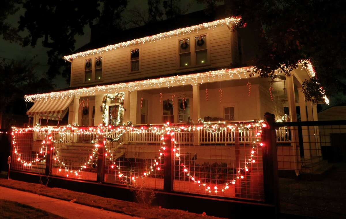 One of the houses on Omar Street, in the Heights, decorated on the route of Lights in the Heights, Thursday, Dec. 11, 2014, in Houston. The annual Lights in the Heights route this year is Omar and Highland from Studewood to Florence.