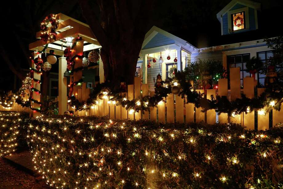 One of the houses on Highland Street, in the Heights, decorated on the route of Lights in the Heights, Thursday, Dec. 11, 2014, in Houston.  The annual Lights in the Heights route this year is Omar and Highland from Studewood to Florence. Photo: Karen Warren, Houston Chronicle / © 2014 Houston Chronicle