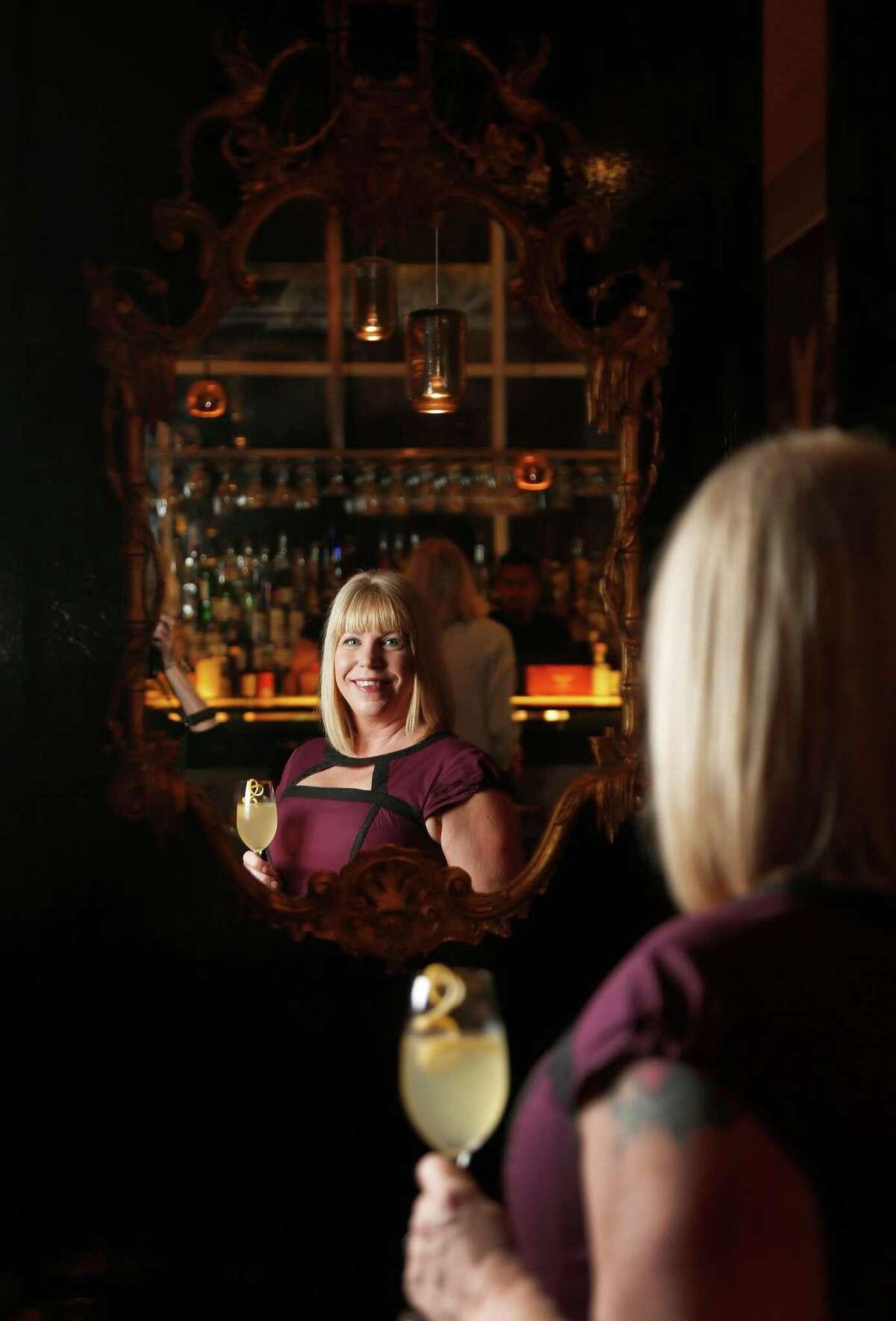 Laurie Sheddan Harvey, manager of the new bar inside Triniti restaurant called Sanctuari, photographed, Saturday, Dec. 6, 2014, in Houston. ( Karen Warren / Houston Chronicle )