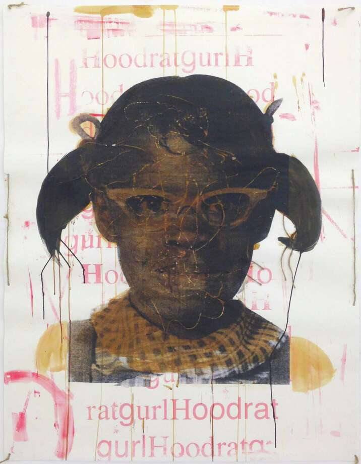 "Deborah Roberts' ""Hoodratgurl"" is among works on view at Art Palace in her solo show ""One and Many."" Photo: Art Palace"