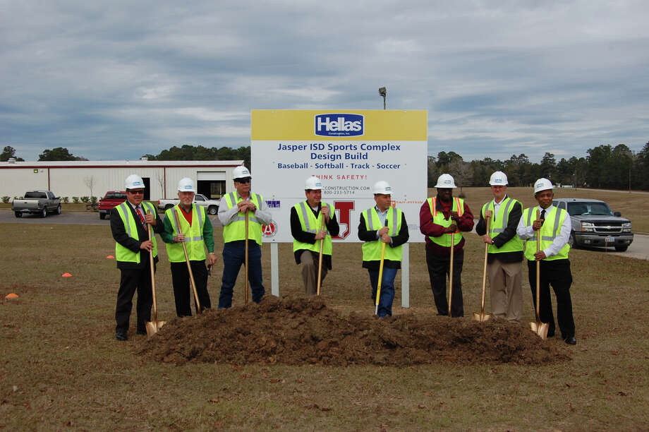 Groundbreaking for the new JISD athletic Complex. photo by Jeff Reedy