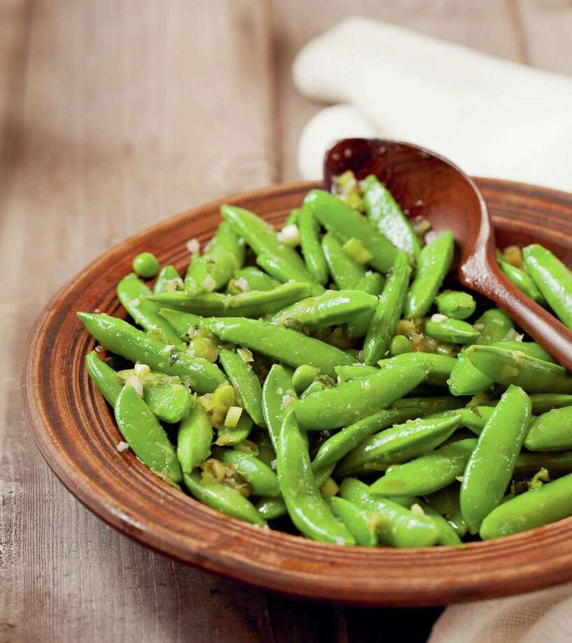 Sugar Snap Peas with Orange Ginger Dressing Photo: Julie Bidwell / ONLINE_YES