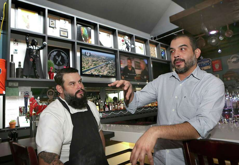 "Gabriel Orozco, and his brother Javier Orozco, who run the Knife & Fork Gastropub, will be featured on Food Network's ""Restaurant Impossible."" Photo: Bob Owen /San Antonio Express-News / ©2014 San Antonio Express-News"
