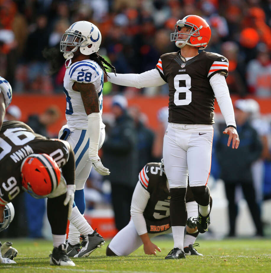 Browns kicker Billy Cundiff's missed field goal against the Colts led to his release. Photo: Jeff Haynes / Associated Press / FR171008 AP