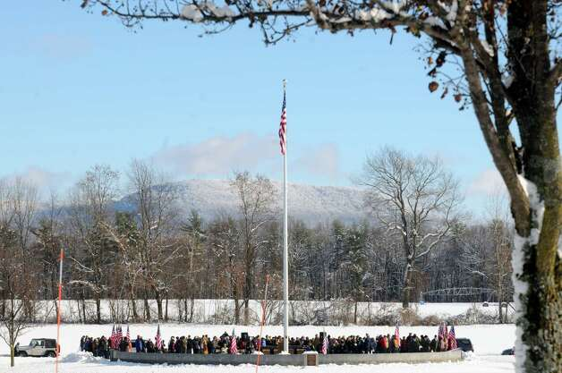 A ceremony for National Wreaths Across America Day at the Gerald Solomon National Cemetery on Saturday Dec. 13, 2014 in Schuylerville , N.Y.  (Michael P. Farrell/Times Union) Photo: Michael P. Farrell / 00029839A