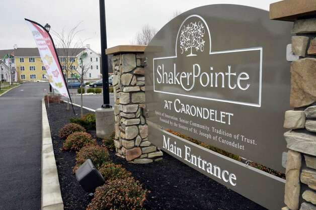 Main entrance to Shaker Pointe at Carondelet Wednesday Dec. 3, 2014, in Colonie, NY. The senior living community has received tax breaks in two phases from the Colonie Industrial Development Agency, but the IDA has never reported the numbers to the state, a violation of the public authorities law. (John Carl D'Annibale / Times Union) Photo: John Carl D'Annibale / 00029702A