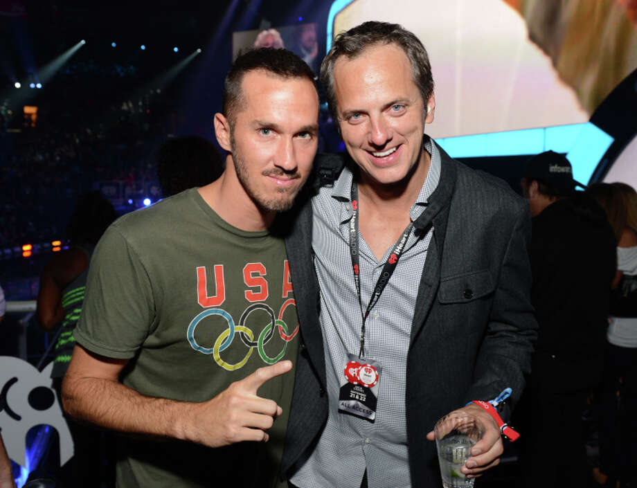 LAS VEGAS, NV - SEPTEMBER 21: (L-R) Producer Griffin Guess and Tom Poleman, President, National Programming Platforms for Clear Channel Radio pose  in the VIP Lounge during the 2012 iHeartRadio Music Festival at the MGM Grand Garden Arena on September 21, 2012 in Las Vegas, Nevada.  (Photo by Michael Kovac/Getty Images for Clear Channel) Photo: Michael Kovac / Getty Images For Clear Channel / ONLINE_CHECK