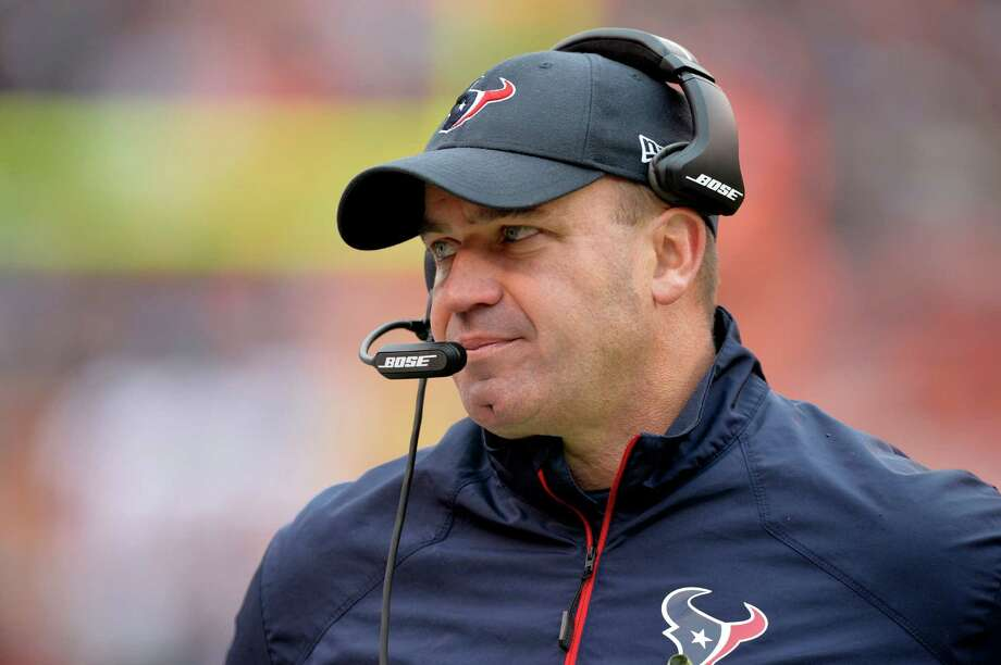 Houston Texans head coach Bill O'Brien reacts on the sideline against the Cleveland Browns on Nov. 16. Houston won 23-7. Photo: David Richard /Associated Press / FR25496 AP