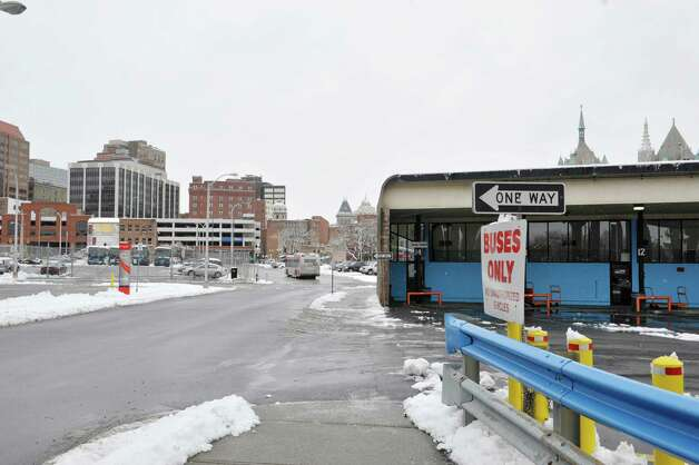 A view of the Greyhound Bus terminal area on Thursday, Dec. 11, 2014, in Albany, N.Y.  (Paul Buckowski / Times Union) Photo: Paul Buckowski / 00029819A