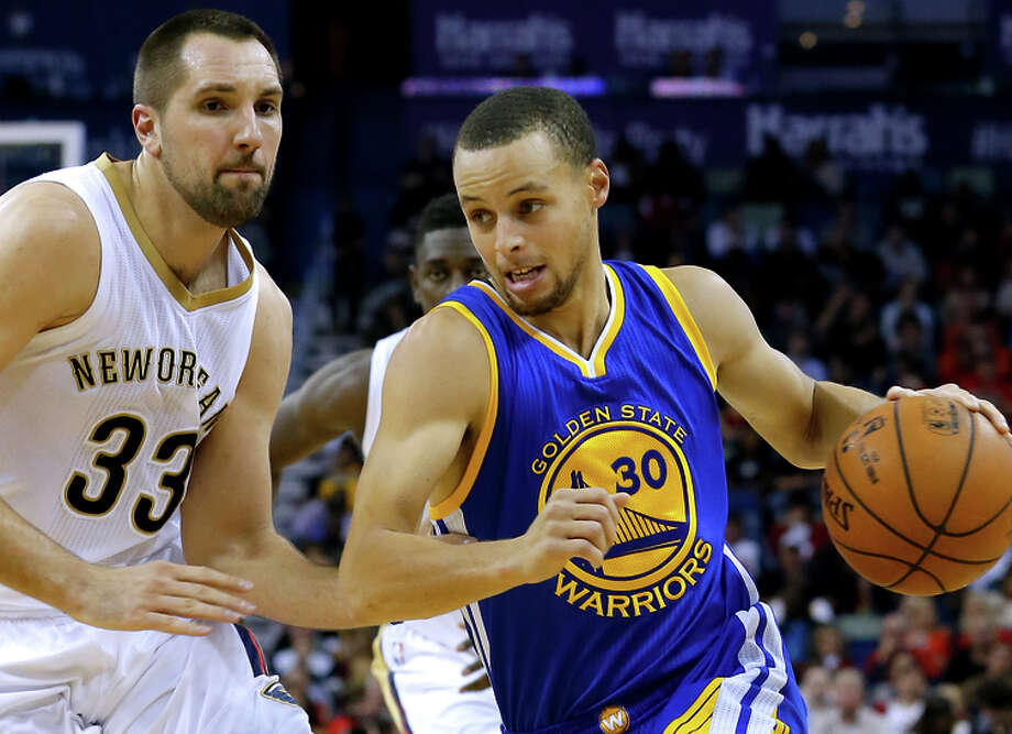 Stephen Curry might take some harder hits in the paint in the playoffs, whether driving or cutting. Photo: Jonathan Bachman / Associated Press / FR170615 AP
