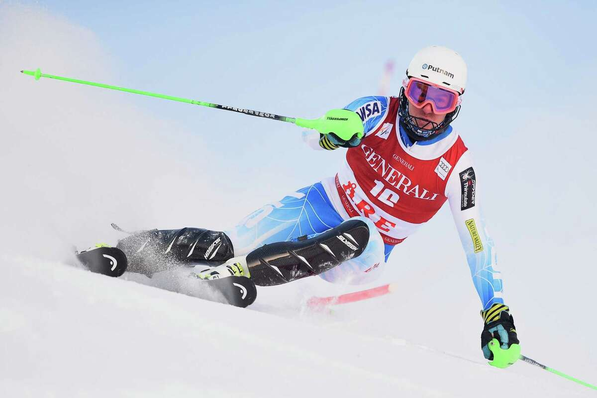 ARE, SWEDEN - DECEMBER 14: (FRANCE OUT) Ted Ligety of the USA competes during the Audi FIS Alpine Ski World Cup Men's Slalom on December 14, 2014 in Are, Sweden. (Photo by Alain Grosclaude/Agence Zoom/Getty Images) ORG XMIT: 513436357