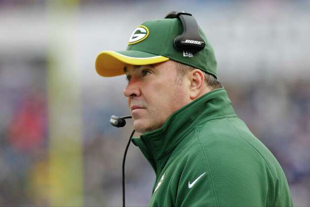 Green Bay Packers head coach Mike McCarthy watches his team play during the first half of an NFL football game against the Buffalo Bills Sunday, Dec. 14, 2014, in Orchard Park, N.Y. (AP Photo/Bill Wippert) ORG XMIT: NYFF102 Photo: Bill Wippert / FR170745 AP
