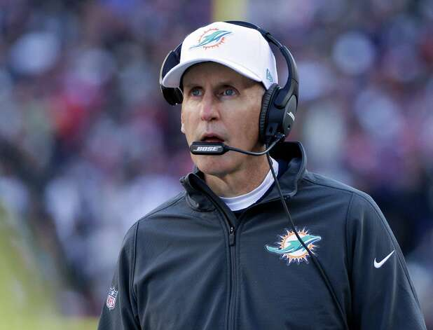 Miami Dolphins head coach Joe Philbin watches the first half of an NFL football game against the New England Patriots, Sunday, Dec. 14, 2014, in Foxborough, Mass. (AP Photo/Steven Senne) ORG XMIT: FBO112 Photo: Steven Senne / AP