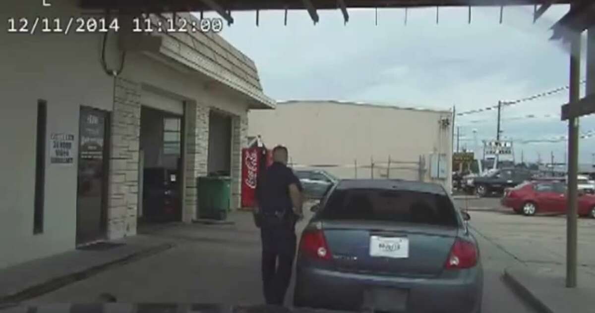 A Victoria police officer is under investigation after using a stun gun on a 76-year-old man after pulling him over Thursday for an expired inspection sticker. Nathanial Robinson, a 23-year-old hired in 2012 after graduating from the police academy, was placed on administrative duty Friday while the Victoria Police Department determines whether Robinson violated the department's use of force policy, Victoria Police Chief J.J. Craig told the Victoria Advocate.