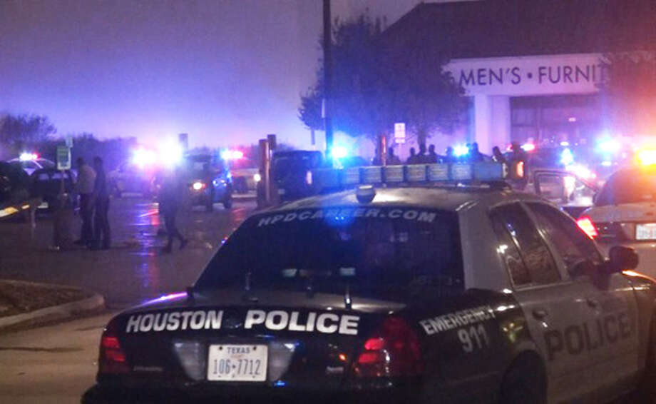 Police were called to quell unruly crowds after hundreds converged outside several Houston-area malls early Sunday morning in hopes of getting a ticket to buy pricey Nike Air Jordan sneakers being released next weekend. Photo: Scott Engle / Montgomery County Police Reporter