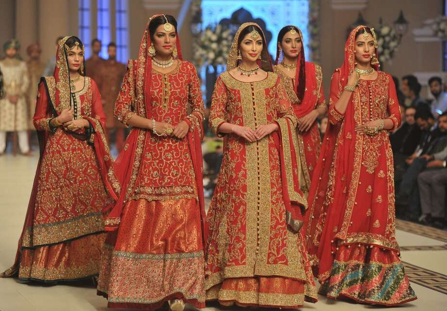 Each country has its own traditional look when it comes to weddings. Take a look at some incredible dresses from around the globe.Country:Pakistan Photo: Anadolu Agency/Getty Images