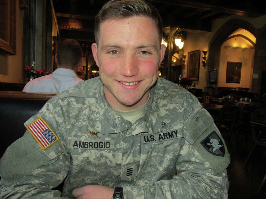 "West Point senior cadet Francis Ambrosio, of Cos Cob, recently learned he will be assigned to the Army's armored division after graduating from the United States Military Academy. ""When I was three-years-old my father, who was a veteran of World War II, told me to go West Point,"" says Ambrosio. Photo: Anne Semmes / Greenwich Time"