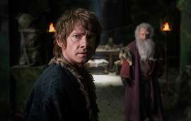 "Martin Freeman as the hobbit Bilbo in the fantasy adventure ""The Hobbit: The Battle of the Five Armies."""