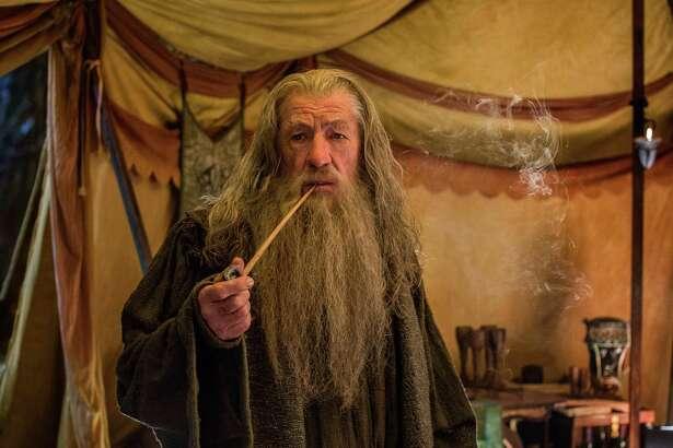 "Ian McKellen as Gandalf in the fantasy adventure ""The Hobbit: The Battle of the Five Armies."""