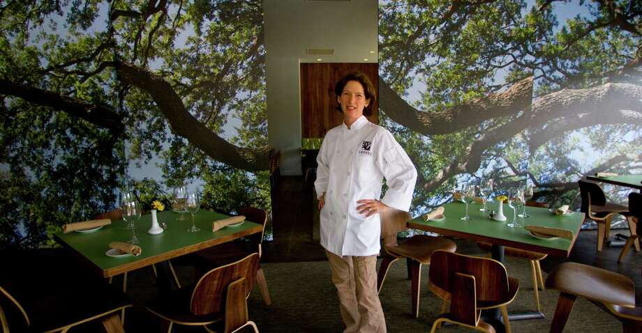 Chef Clair Smith's new restaurant , Canopy, 3939 Montrose, Friday May 7, 2010, in Houston, with the photo-mural room dividers with photos of trees.  (  Karen Warren / Houston Chronicle ) Photo: Karen Warren, Staff / Houston Chronicle