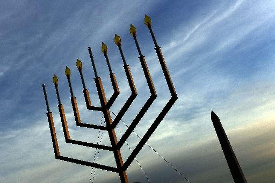 Outdoor Hanukkah menorah