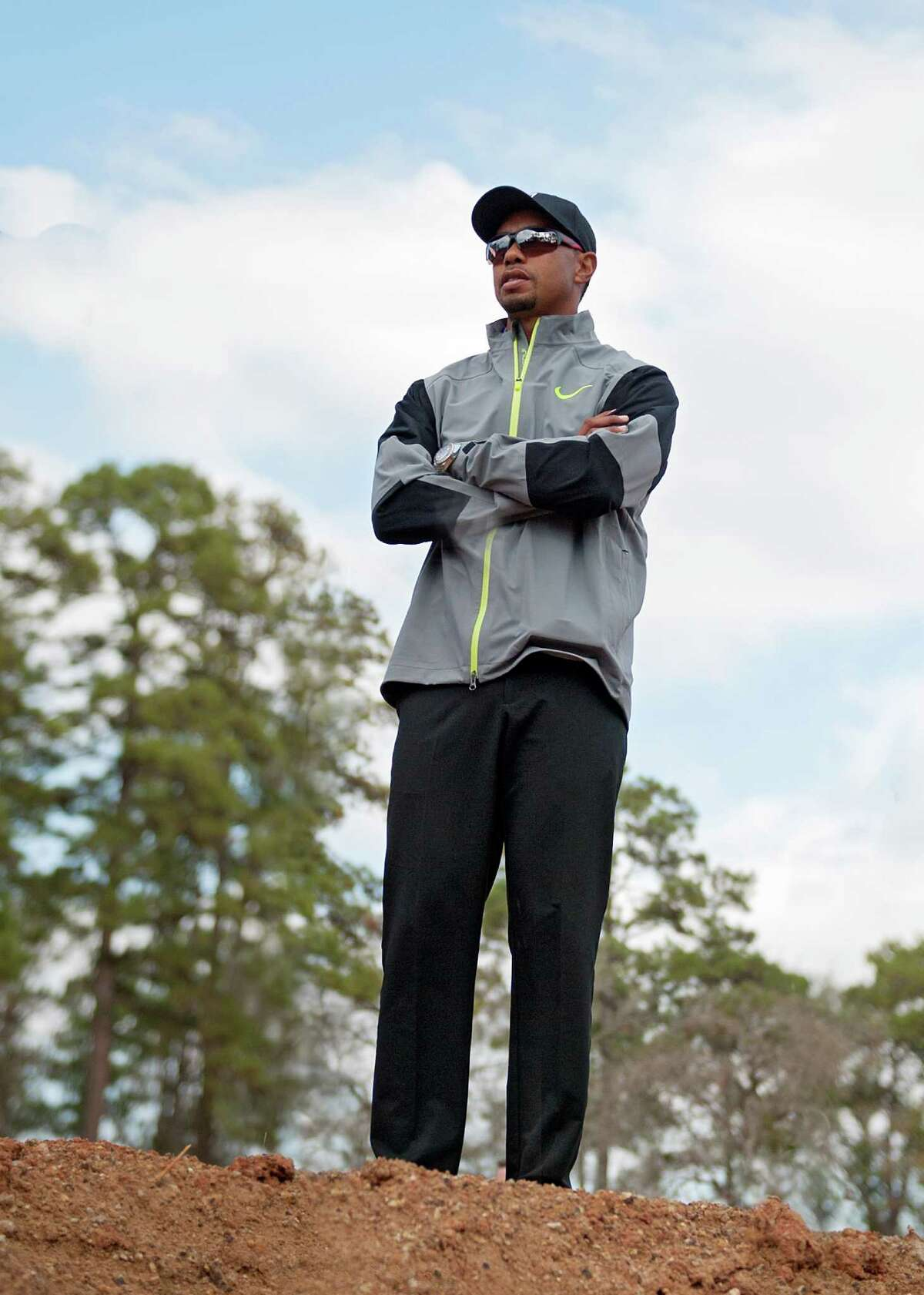Tiger Woods at the site of a course he's designing at Bluejack National in Montgomery on Monday, Dec. 15, 2014.